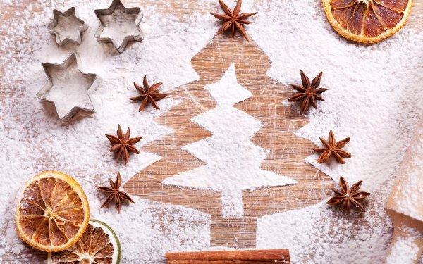 Holiday Christmas Sugar Star Anise Christmas Tree HD Wallpaper | Background Image