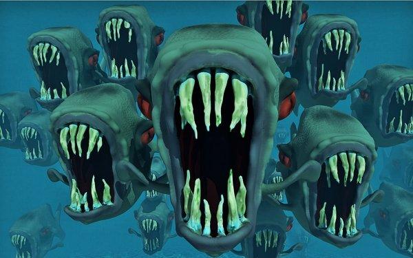 Oscuro Animales Piranha Fondo de pantalla HD | Fondo de Escritorio