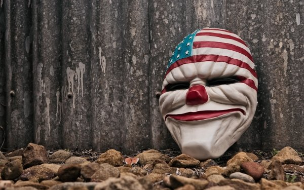 Video Game Payday 2 Payday Clown Mask HD Wallpaper | Background Image