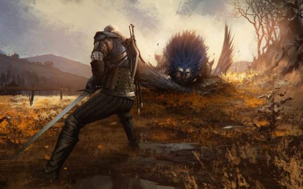 Video Game The Witcher 3: Wild Hunt The Witcher Geralt of Rivia Warrior Creature Sword HD Wallpaper   Background Image