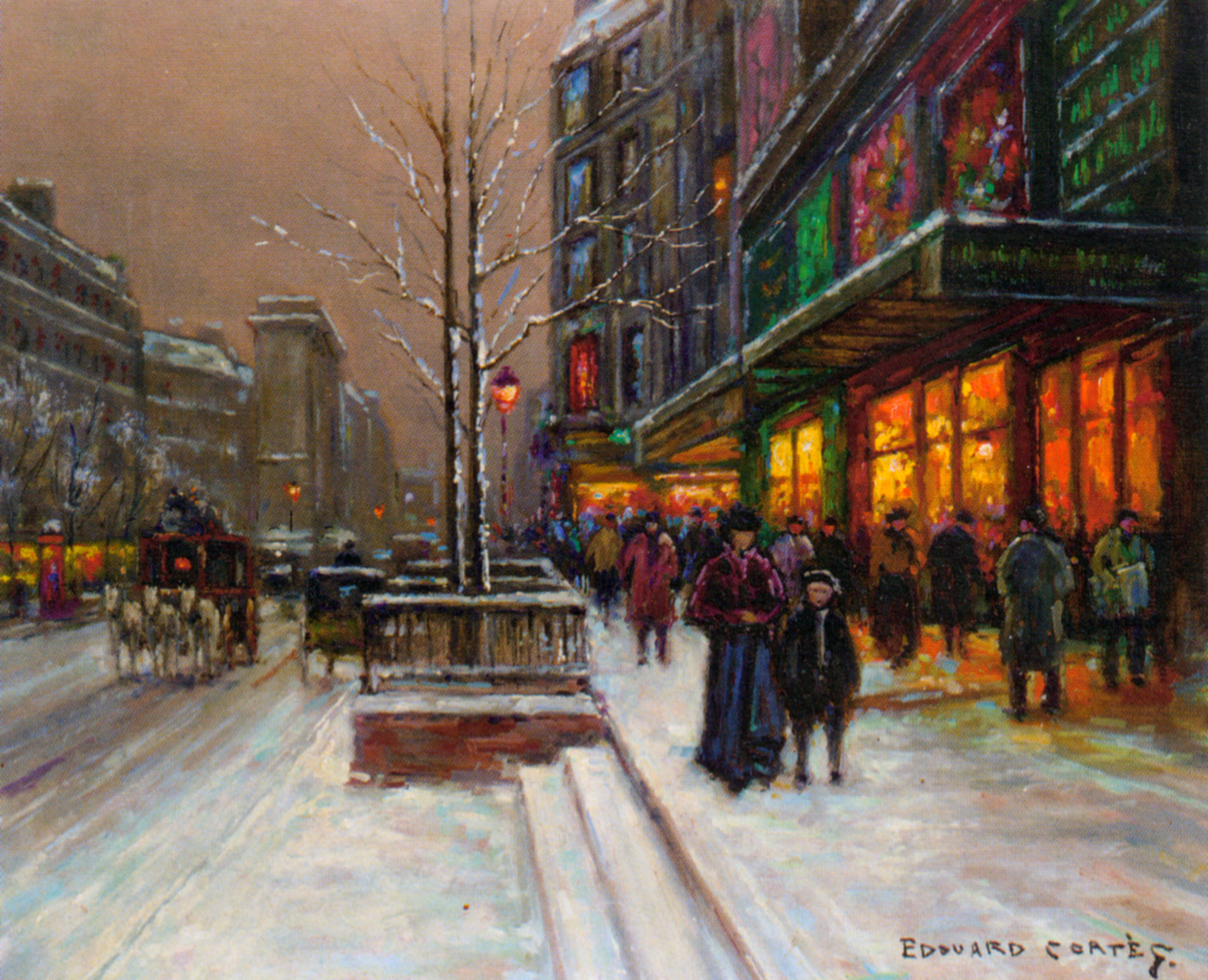 Winter In The City Hd Wallpaper Background Image 2589x2101
