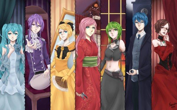 Anime Vocaloid Hatsune Miku Kamui Gakupo Rin Kagamine Luka Megurine GUMI Kaito Meiko HD Wallpaper | Background Image