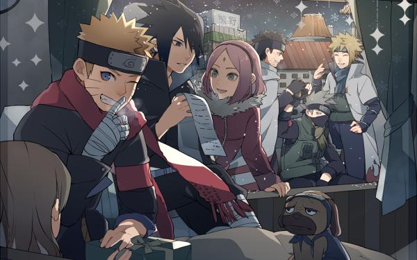 Anime Naruto Sakura Haruno Naruto Uzumaki Sasuke Uchiha Minato Namikaze HD Wallpaper | Background Image