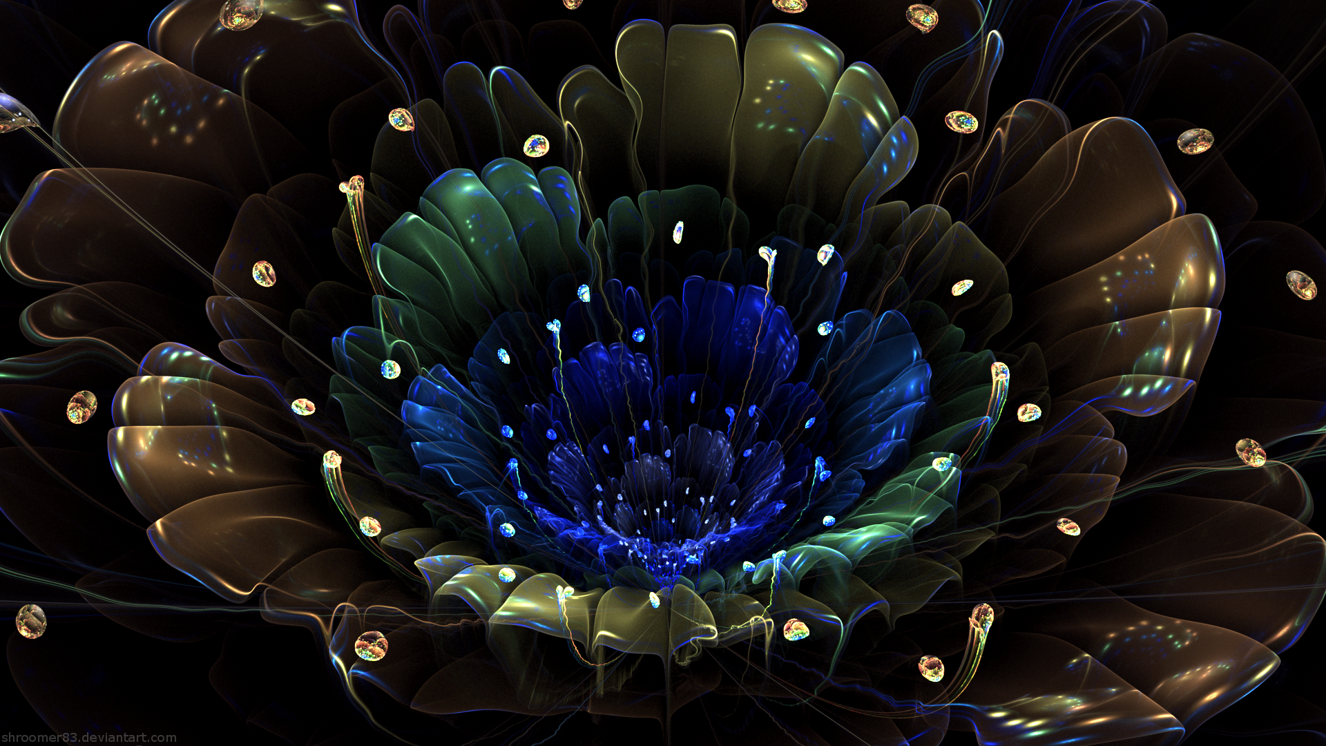 Abstract Flower Hd Wallpaper Background Image 1920x1080 Id