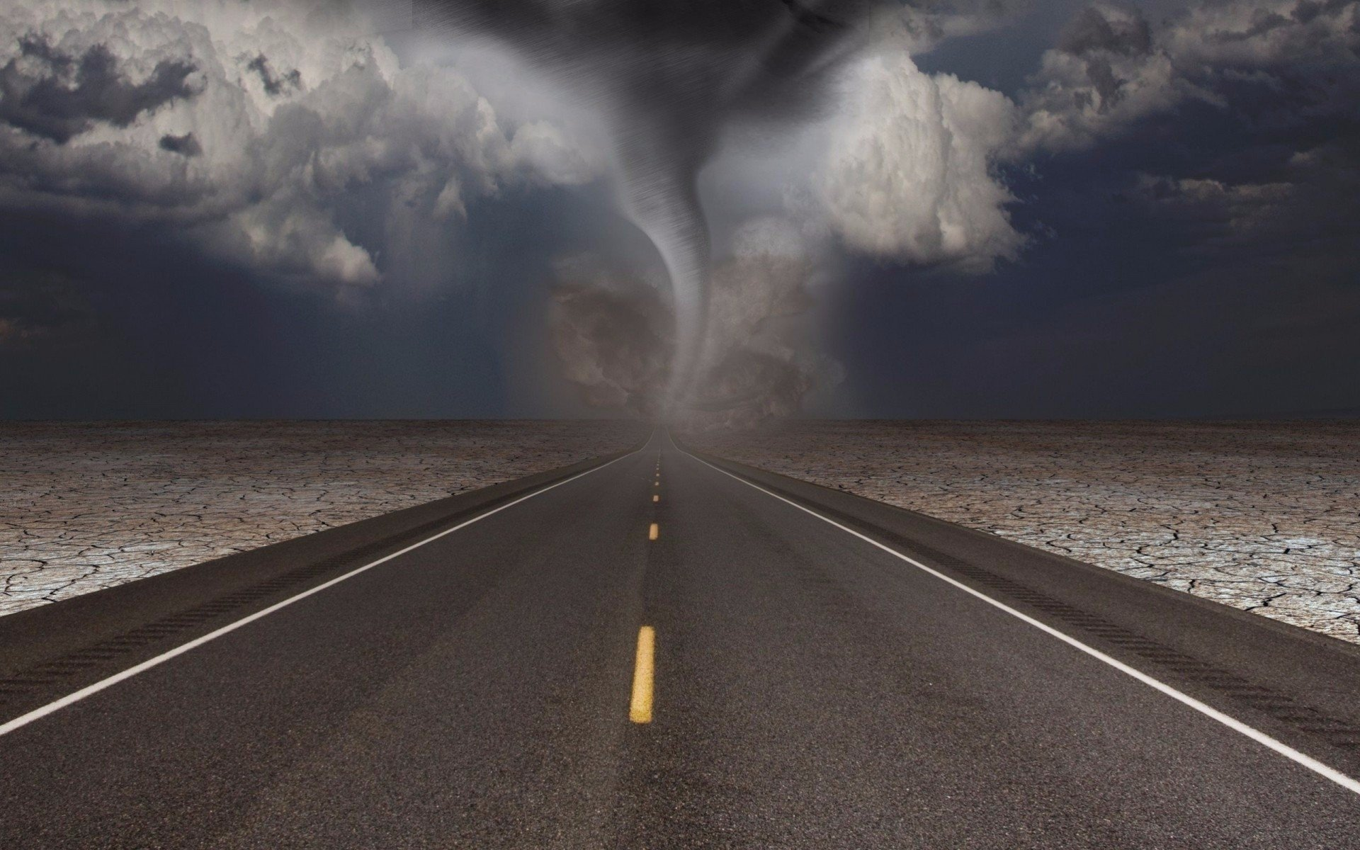 Driving toward tornado hd wallpaper background image 1920x1200 id 786056 wallpaper abyss - Tornado images hd ...