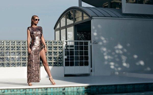 Music Iggy Azalea Singers Australia Australian Rapper Singer Blonde Dress Sunglasses HD Wallpaper | Background Image