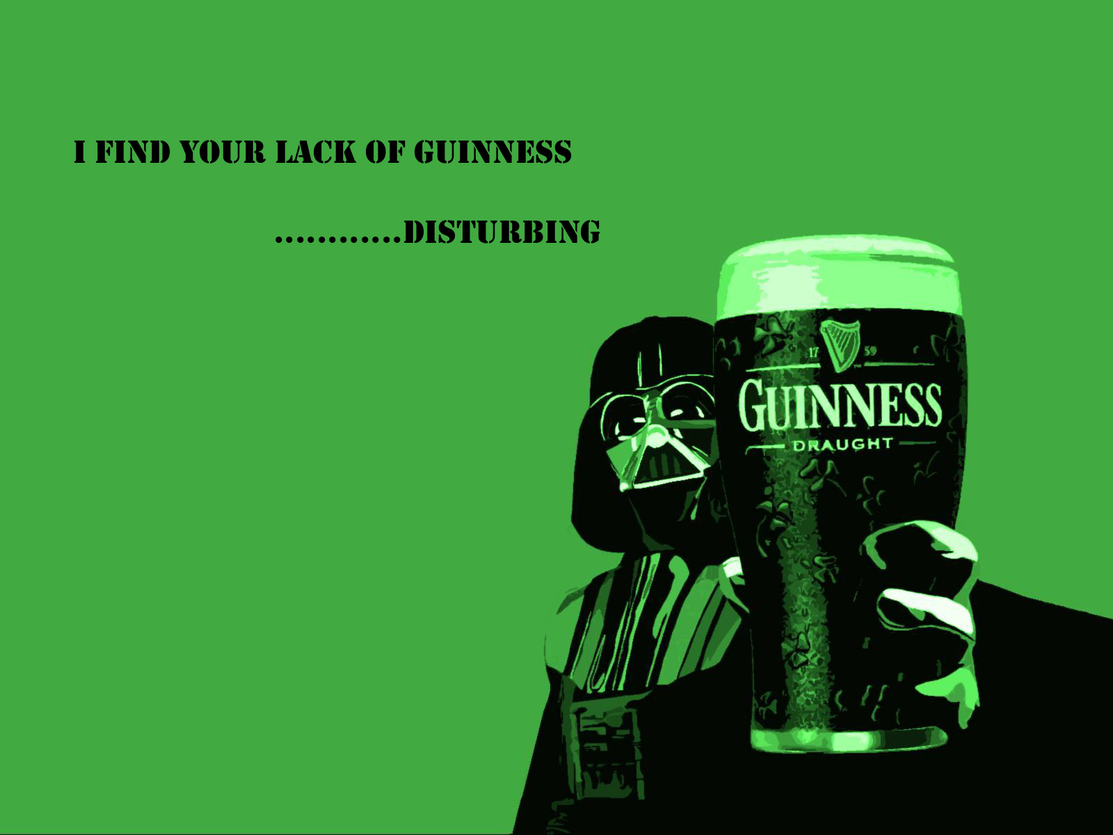 Movie - Star Wars  Quote Beer Darth Vader St Patrick's Day Guinness Wallpaper
