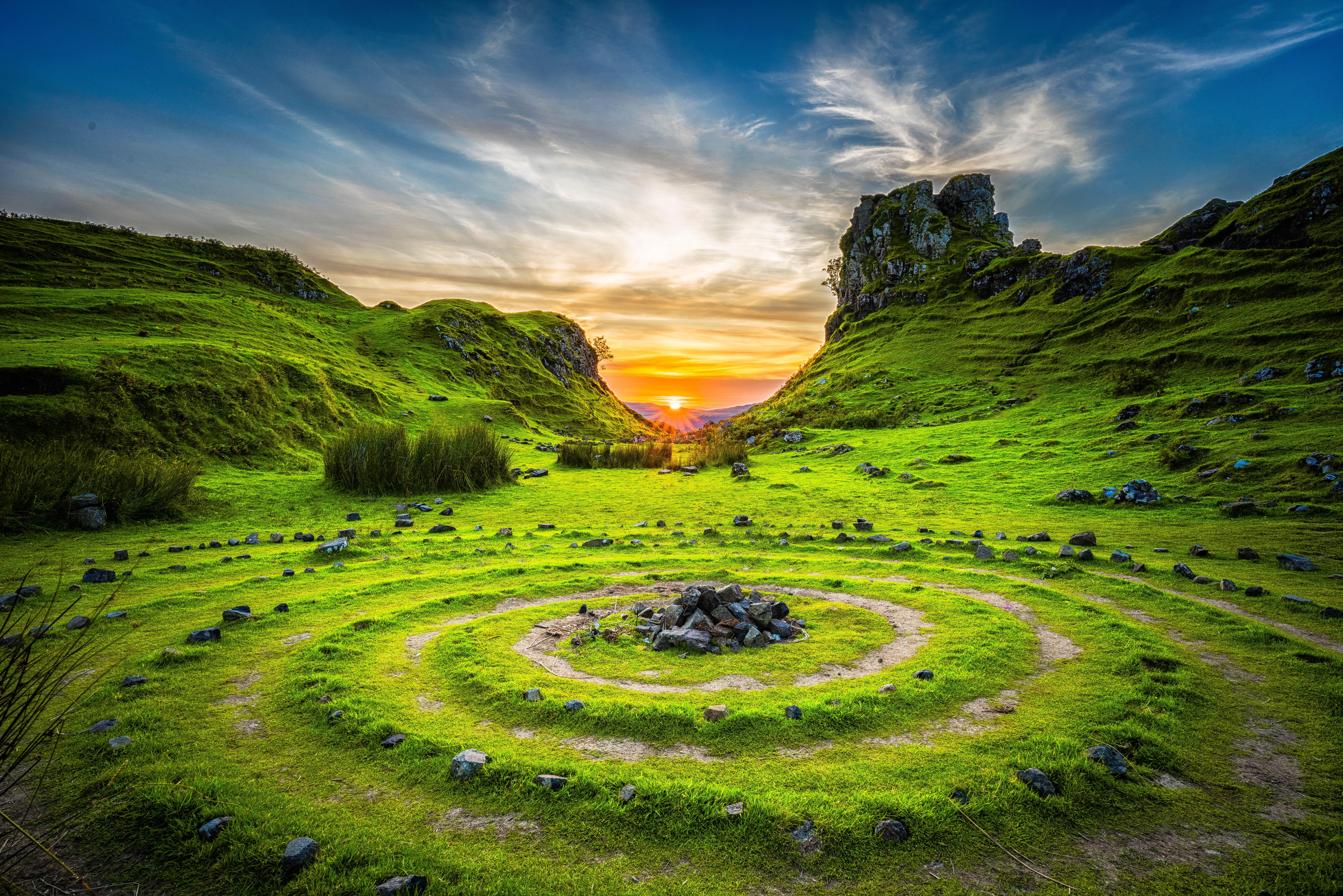 magical landscape 4k ultra hd wallpaper | background image
