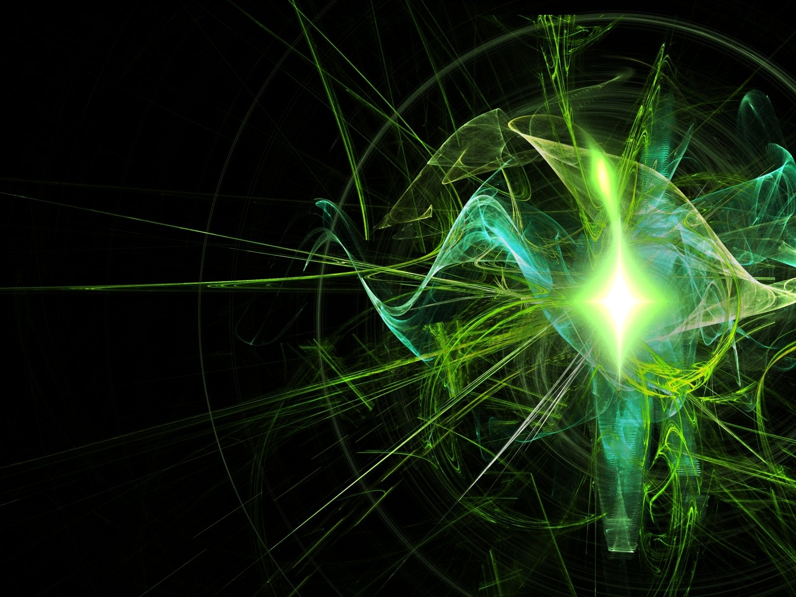 Abstract - Green  Portal (Video Game) Light Lines Supernova Pink Abstract Wallpaper