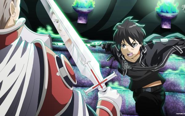 Anime Sword Art Online Kirito Kazuto Kirigaya Heathcliff Fondo de pantalla HD | Fondo de Escritorio