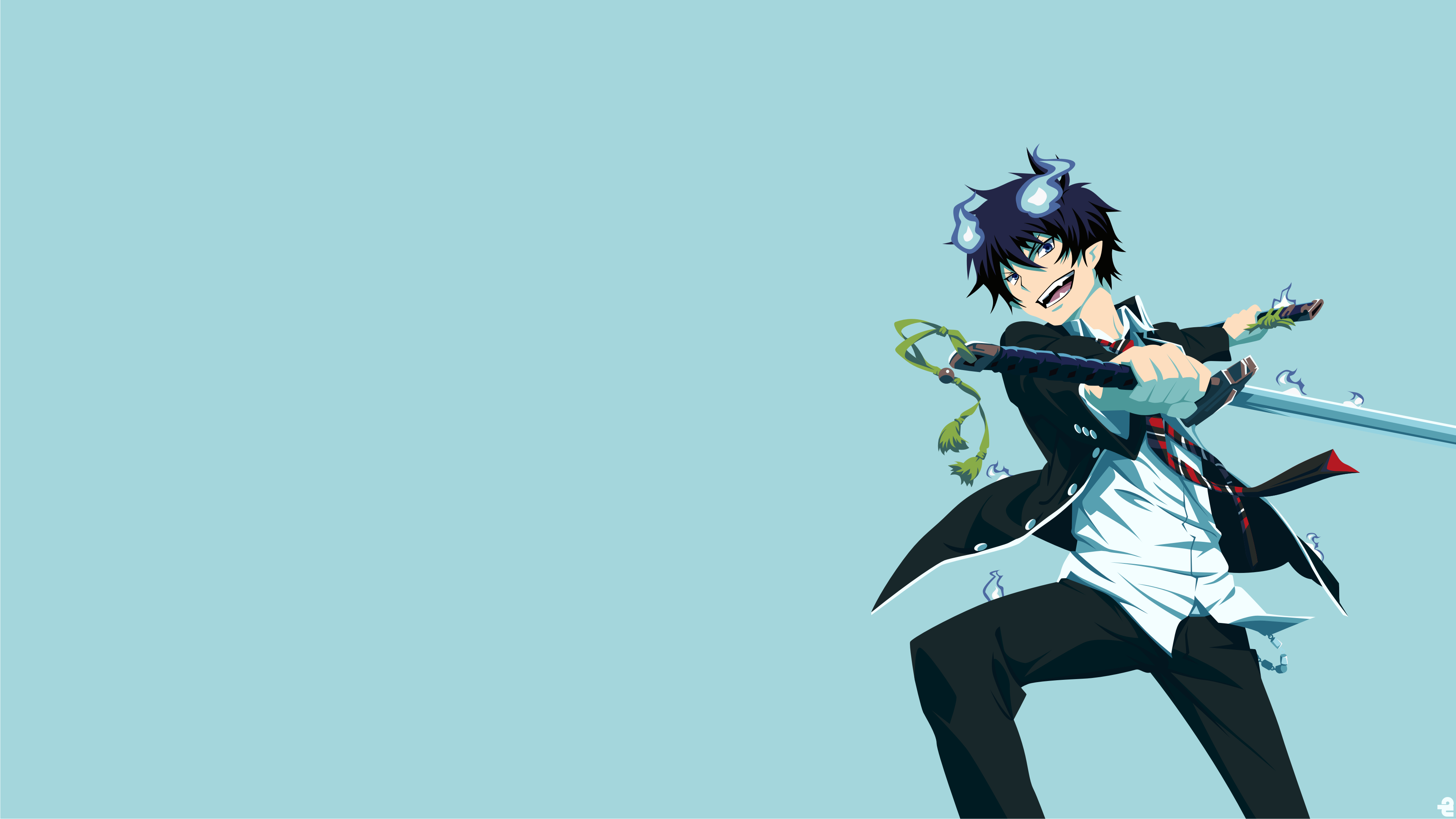 Blue Exorcist 4k Ultra Hd Wallpaper Background Image 3840x2160