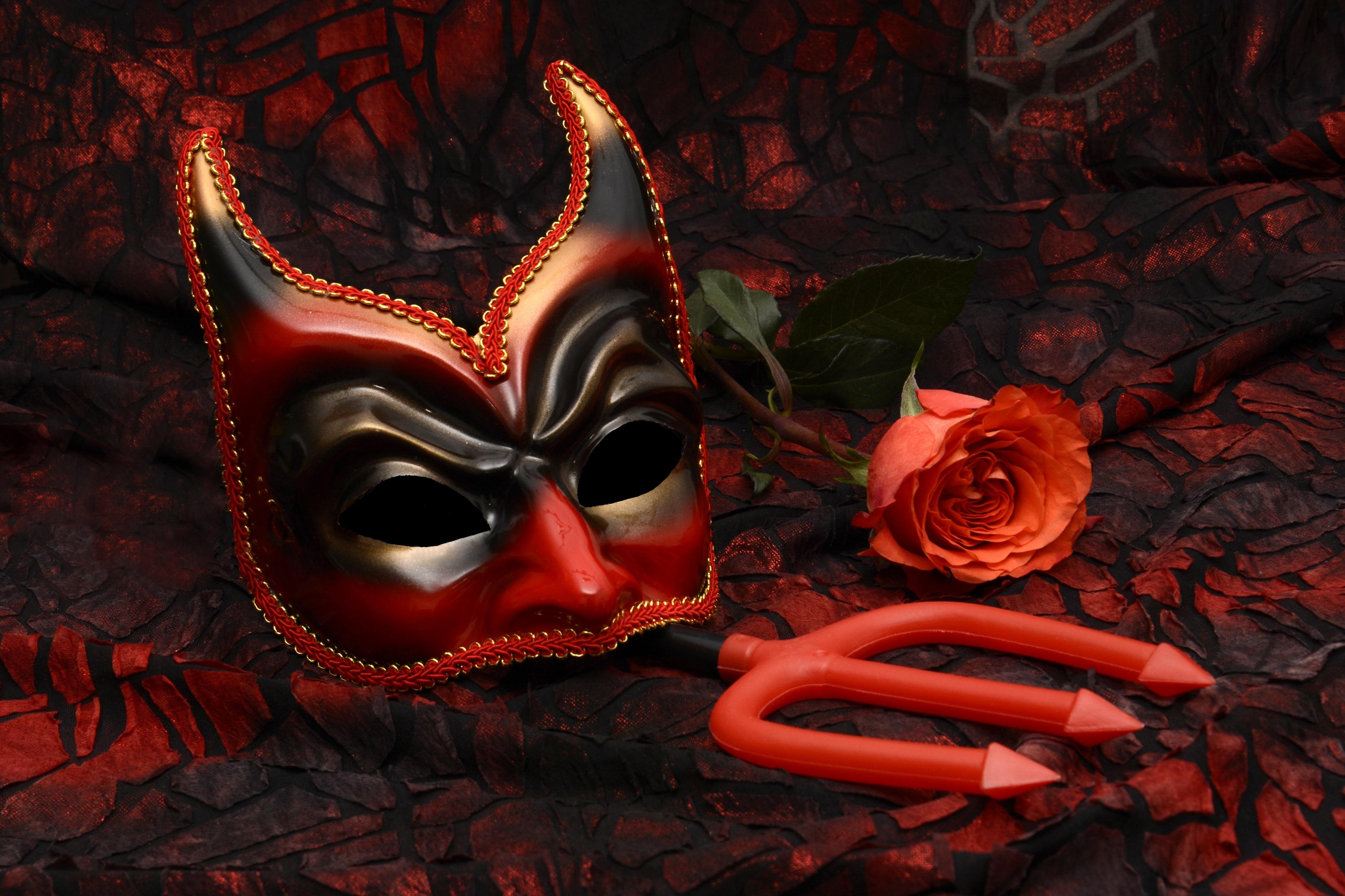 Devil carnival mask HD Wallpaper   Background Image ...