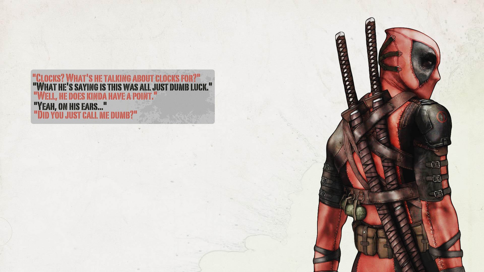 Комиксы - Deadpool  Merc With A Mouth Обои