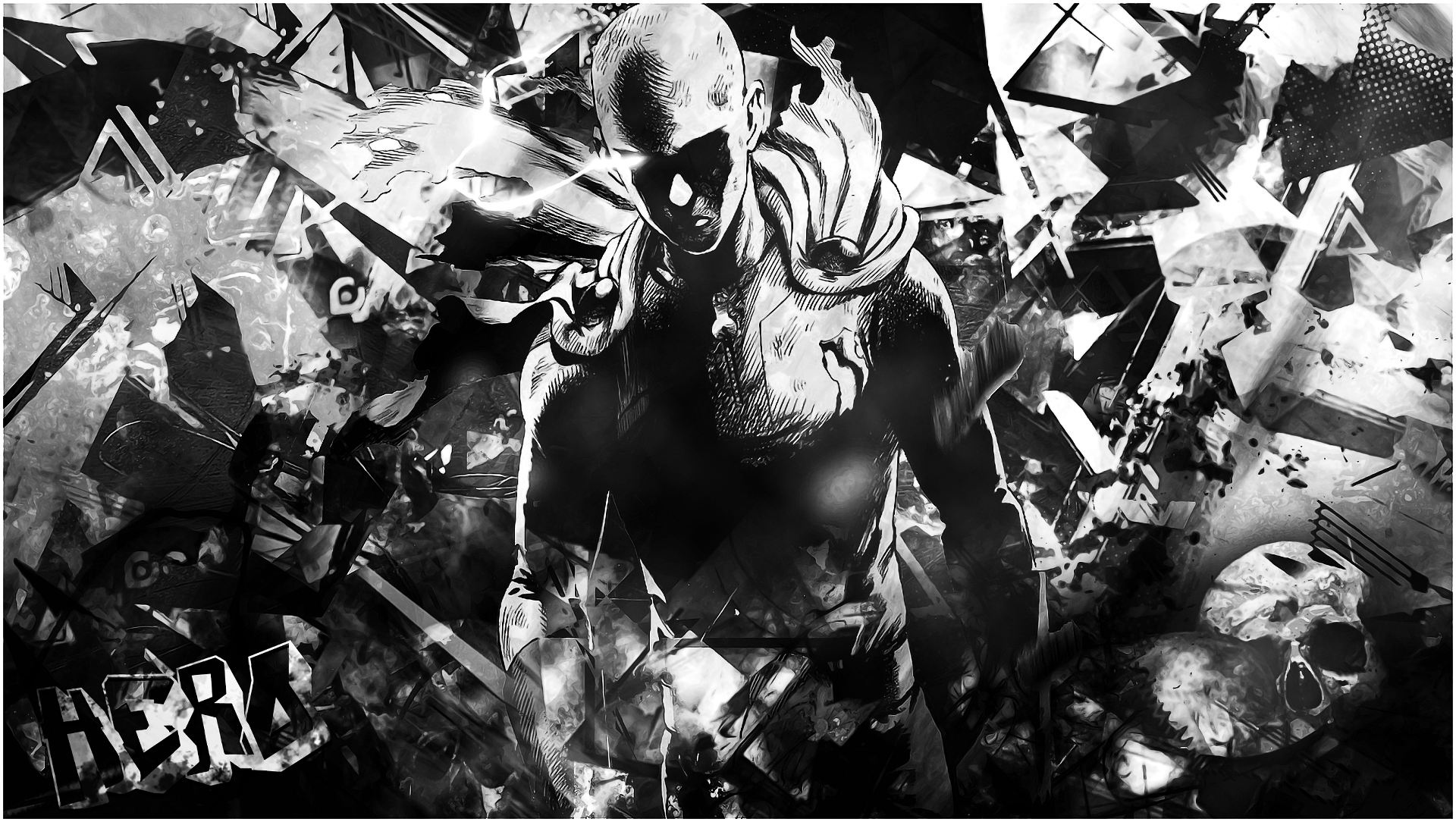 One punch man hd wallpaper background image 1920x1084 - Funny one punch man wallpaper ...