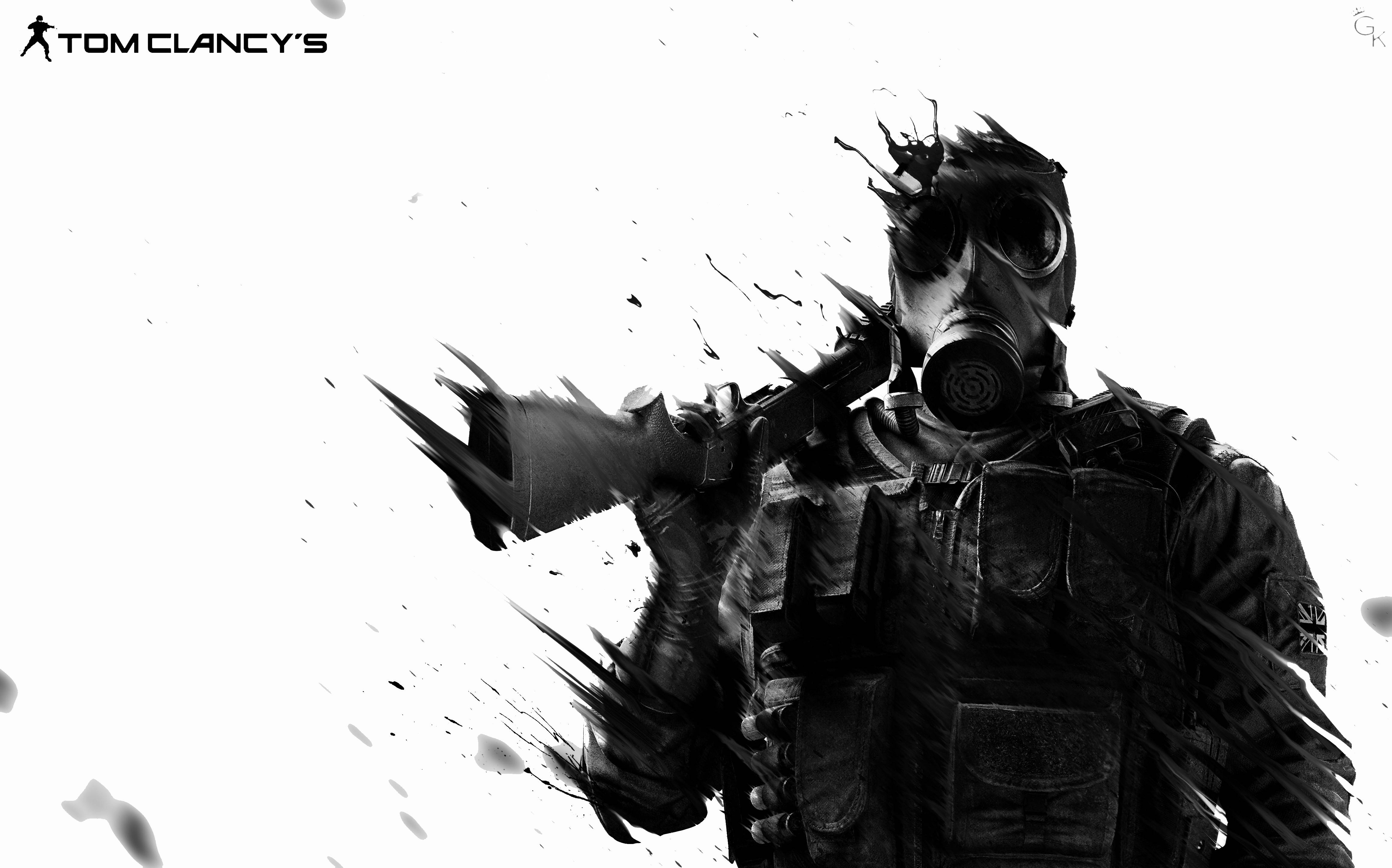 Tom clancy 39 s rainbow six siege 4k ultra papel de parede for Fond ecran r6