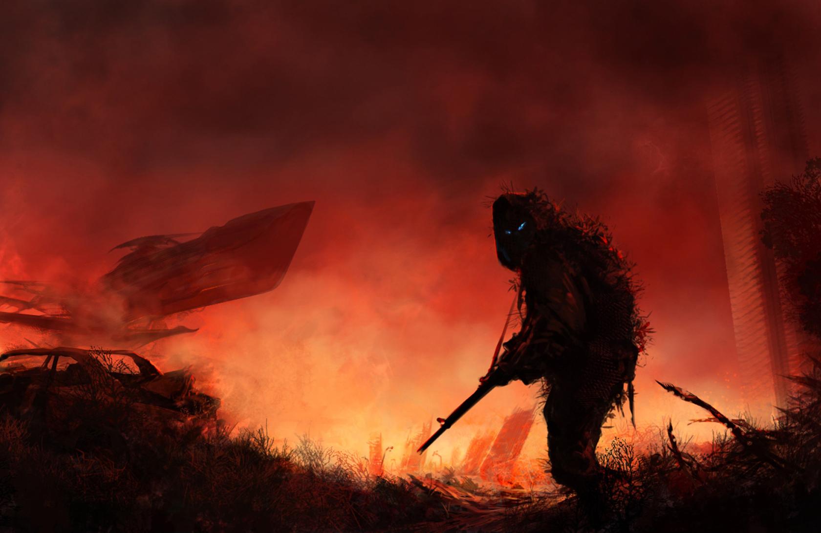 Dark - Warrior  - Universe - Post Apocalyptic Wallpaper