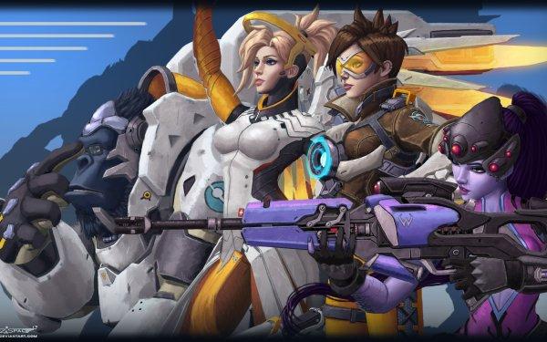 Video Game Overwatch Widowmaker Tracer Mercy Winston HD Wallpaper   Background Image