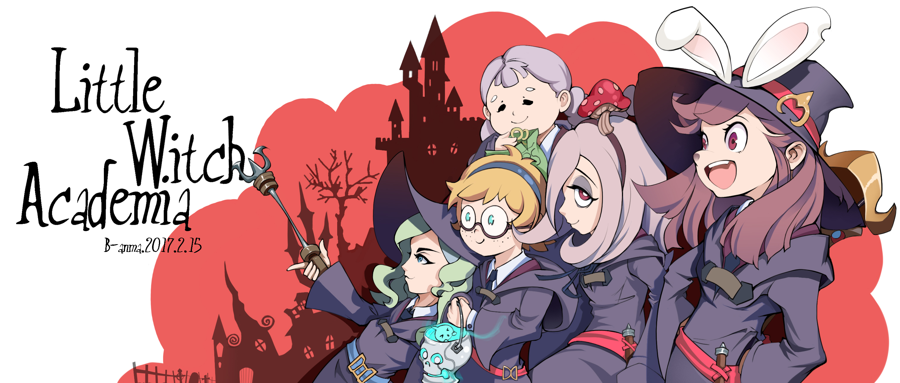 Little Witch Academia Hd Wallpaper Background Image 3024x1286