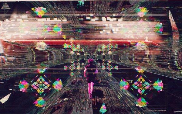 Artistic Glitch Vaporwave HD Wallpaper   Background Image