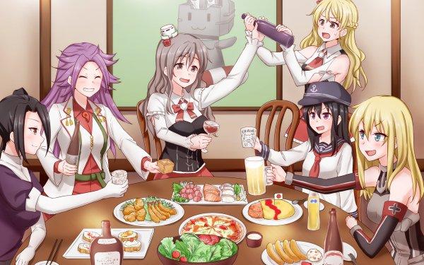 Anime Kantai Collection Akatsuki Bismarck Jun'you Nachi Pola Zara Rensouhou-chan HD Wallpaper | Background Image