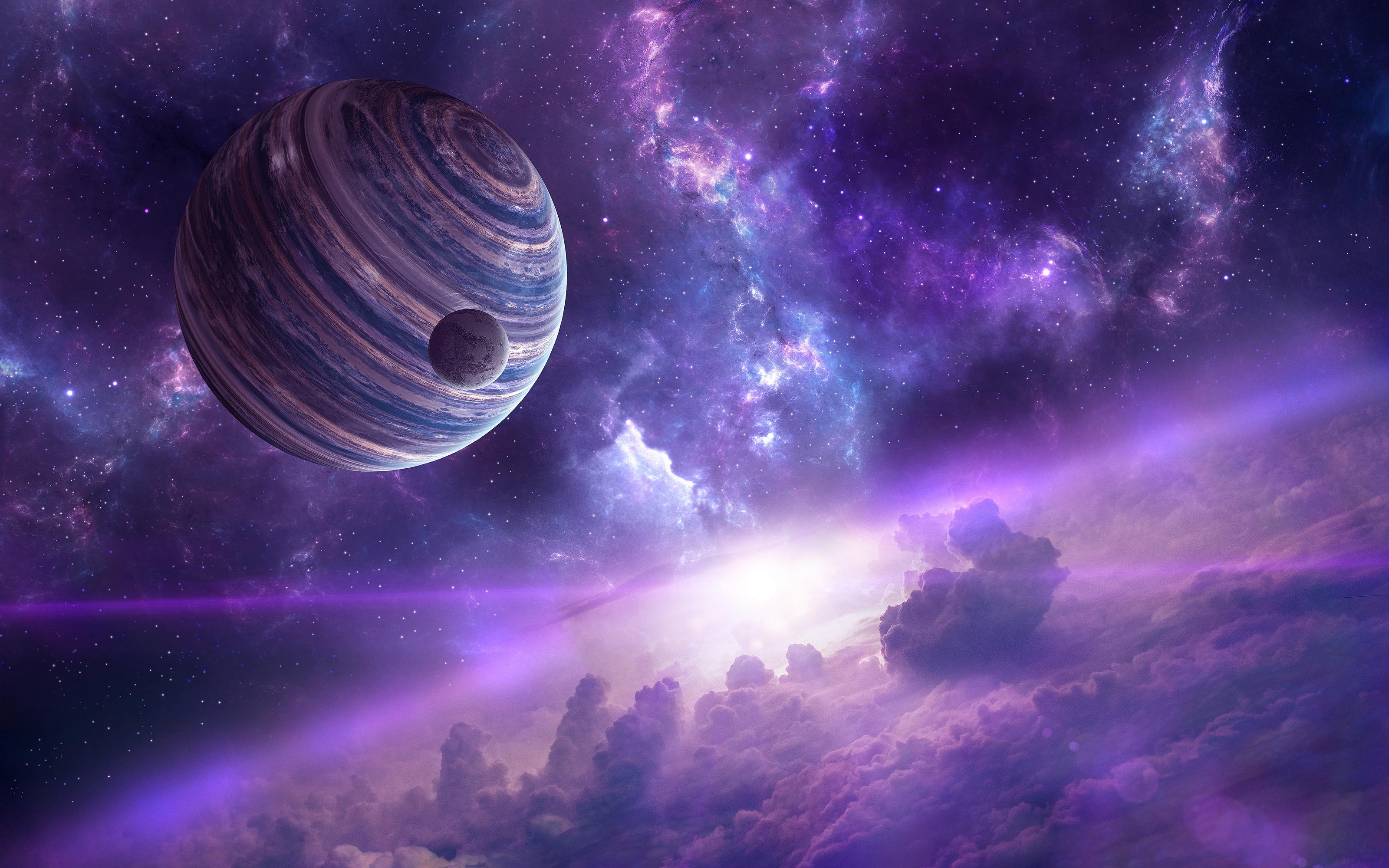 Purple space hd wallpaper background image 3200x2000 - Purple space wallpaper ...