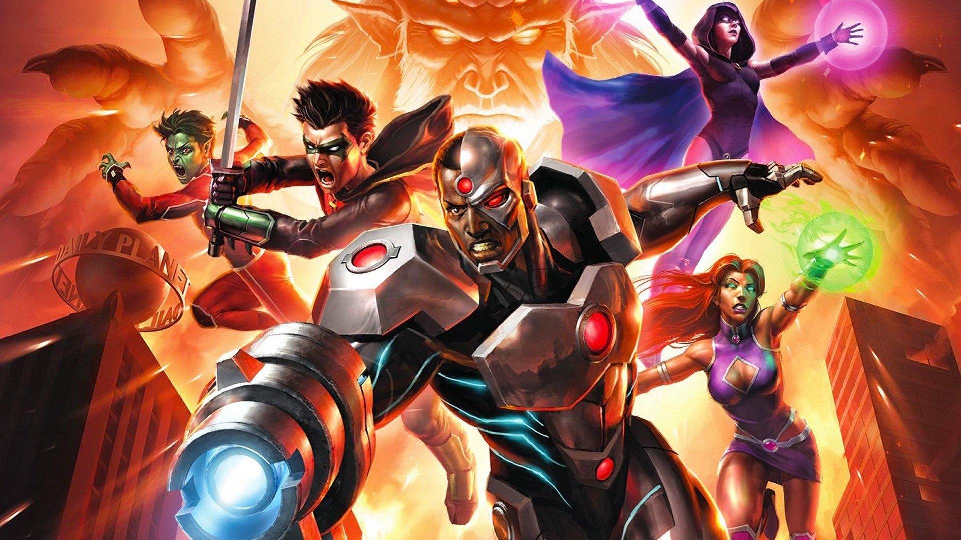 Justice League Vs Teen Titans Fondo De Pantalla Hd Fondo