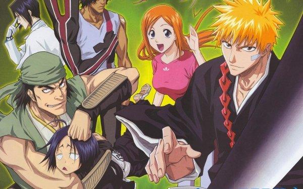 Anime Bleach Ichigo Kurosaki Orihime Inoue Uryu Ishida Yasutora Sado Hanataro Yamada HD Wallpaper | Background Image