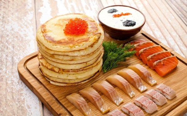 Alimento Pescado Marisco Panqueque Caviar Fondo de pantalla HD | Fondo de Escritorio