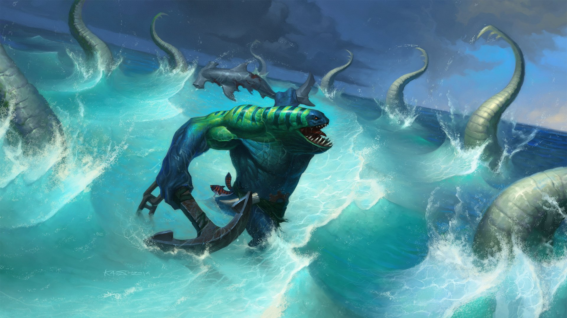 2 Tidehunter DotA HD Wallpapers
