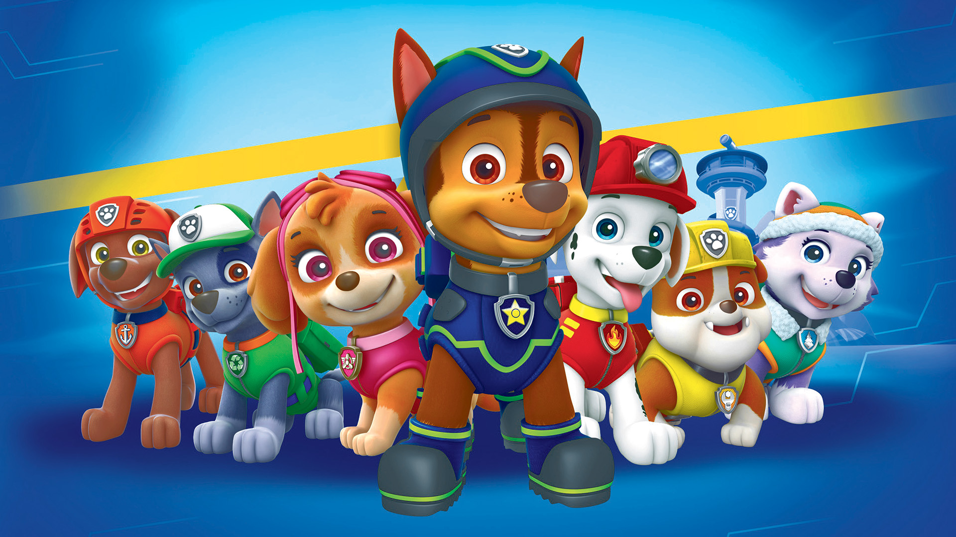 paw patrol dogs hd wallpaper  background image