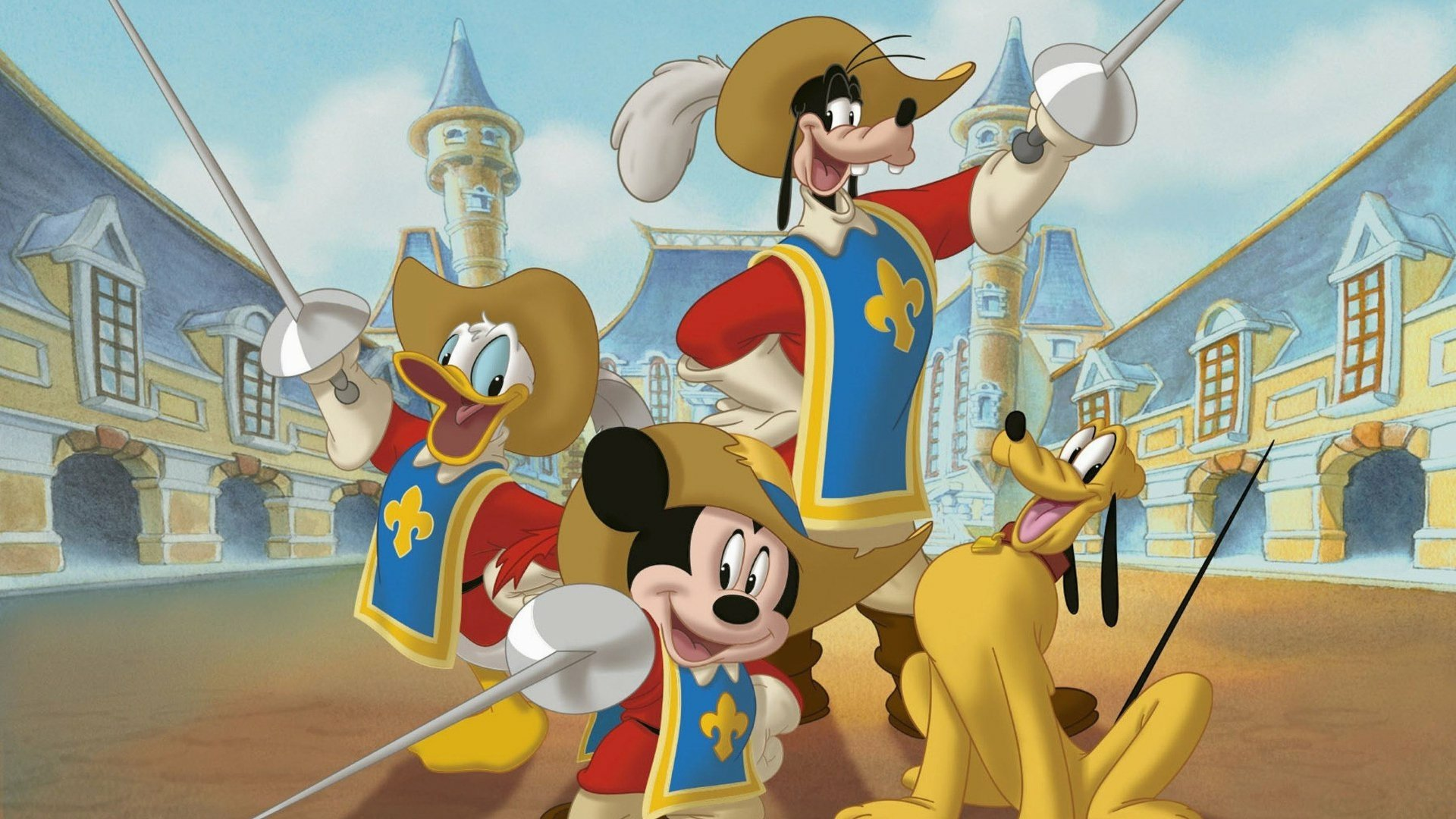 3 Mickey Donald Goofy The Three Musketeers Hd Wallpapers Background Images Wallpaper Abyss