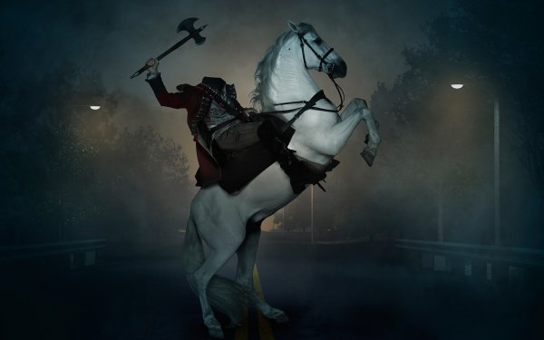 TV Show Sleepy Hollow Headless Horseman Horse Dark HD Wallpaper | Background Image