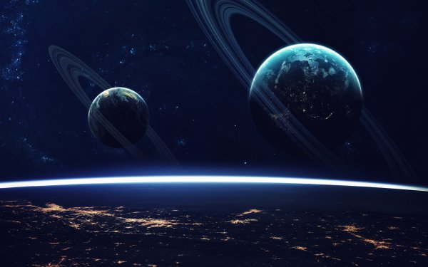 Sci Fi Planets Planetary Ring HD Wallpaper   Background Image