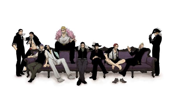 Anime One Piece Rob Lucci Donquixote Doflamingo Crocodile Dracule Mihawk Shanks Marco X Drake HD Wallpaper | Background Image