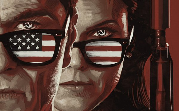 TV Show The Americans Flag Keri Russell Matthew Rhys HD Wallpaper | Background Image