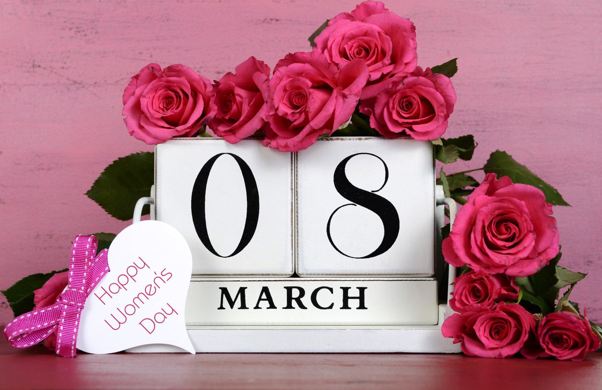 Vacances - Women's Day  Fleur Rose Pink Flower Fond d'écran