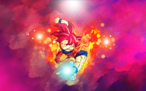 Anime Dragon Ball Super Dragon Ball Goku Super Saiyan God HD Wallpaper | Background Image