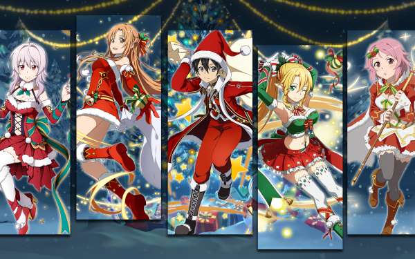 Anime Sword Art Online Sword Art Online: Memory Defrag Kirito Asuna Yuuki Leafa Lisbeth HD Wallpaper | Hintergrund