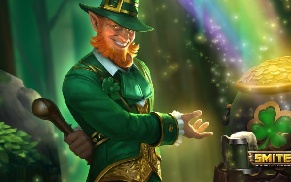 Video Game Smite St. Patrick's Day Loki HD Wallpaper | Background Image