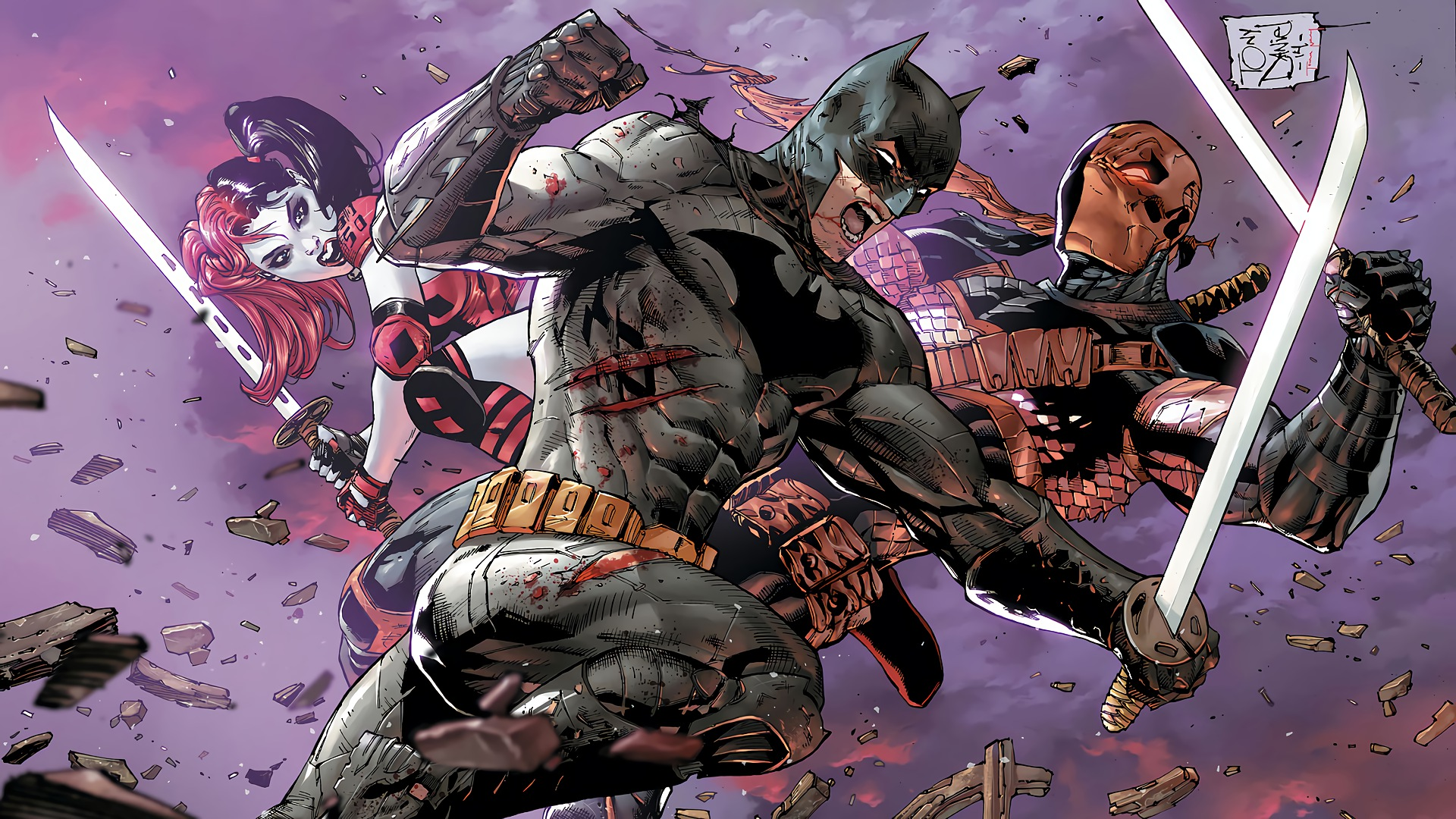 Batman Vs Deathstroke HD Wallpaper
