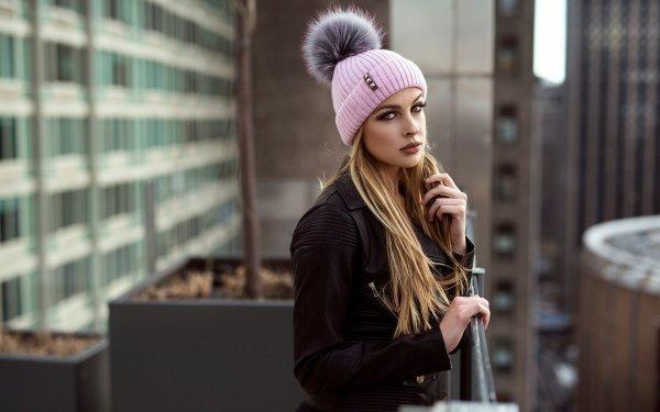 Women Model Models Woman Depth Of Field Hat Blonde HD Wallpaper | Background Image