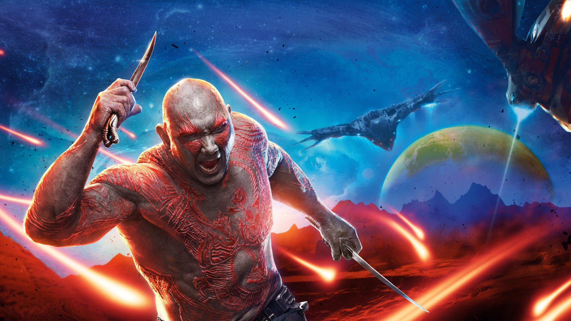 Films - Guardians of the Galaxy Vol. 2  Drax The Destroyer Wallpaper