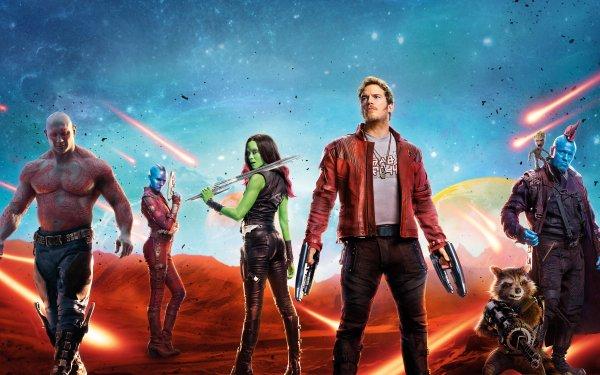 Movie Guardians of the Galaxy Vol. 2 Star Lord Gamora Drax The Destroyer Nebula Rocket Raccoon Chris Pratt Zoe Saldana HD Wallpaper | Background Image