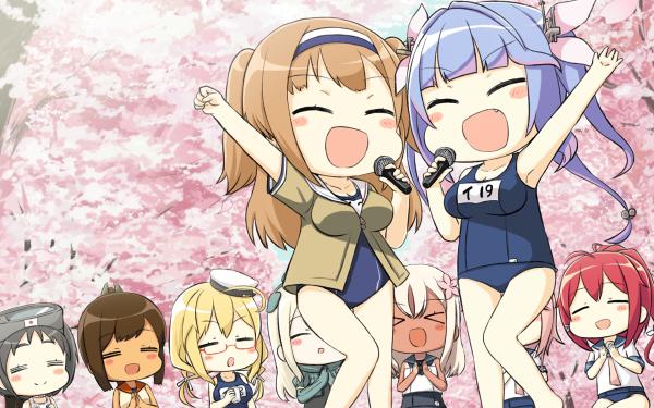 Anime Kantai Collection I-8 Ro-500 I-168 I-19 Maruyu I-401 U-511 I-58 I-26 HD Wallpaper | Background Image