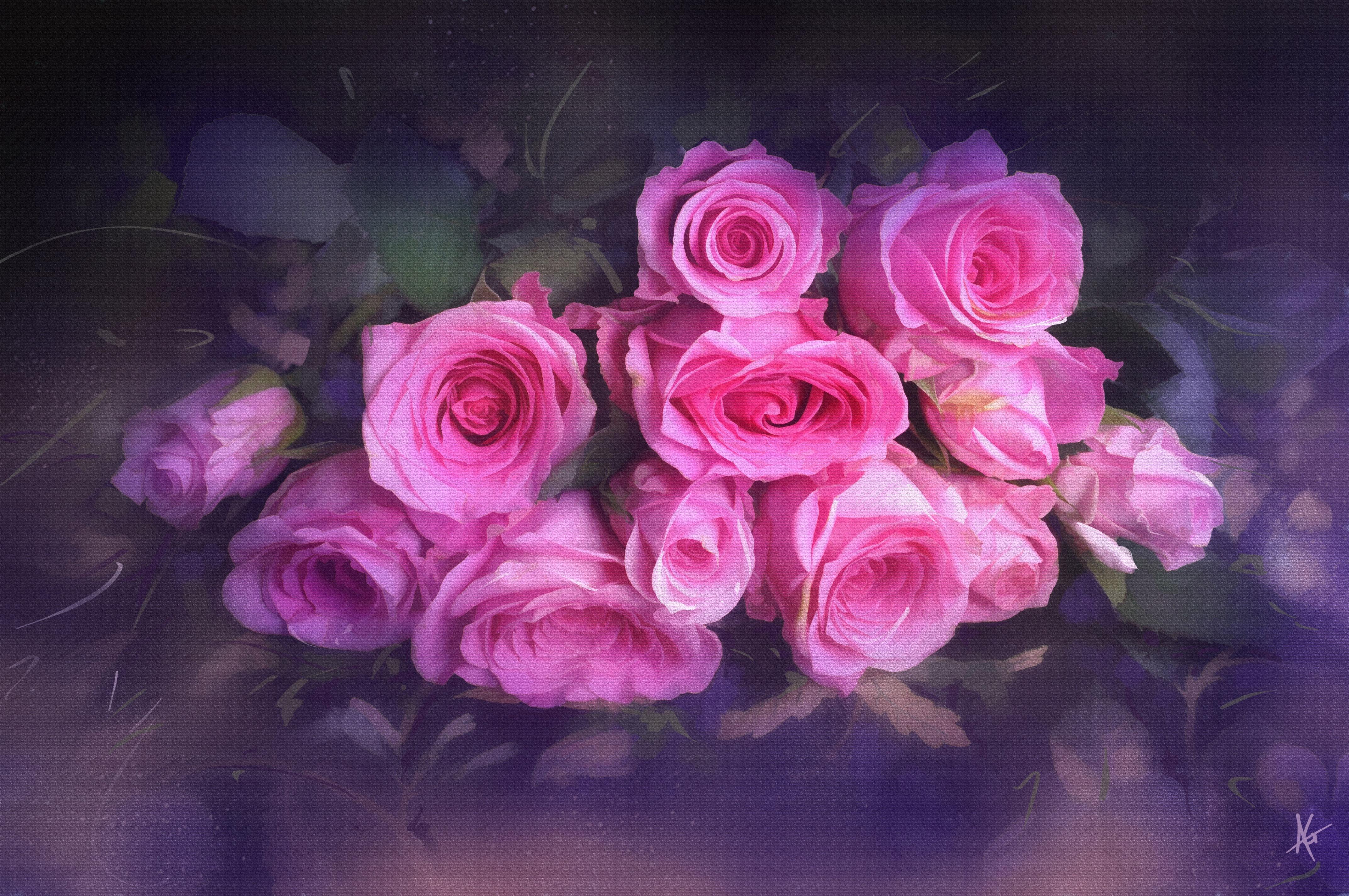 Vintage Pink Roses 4k Ultra Fondo De Pantalla HD