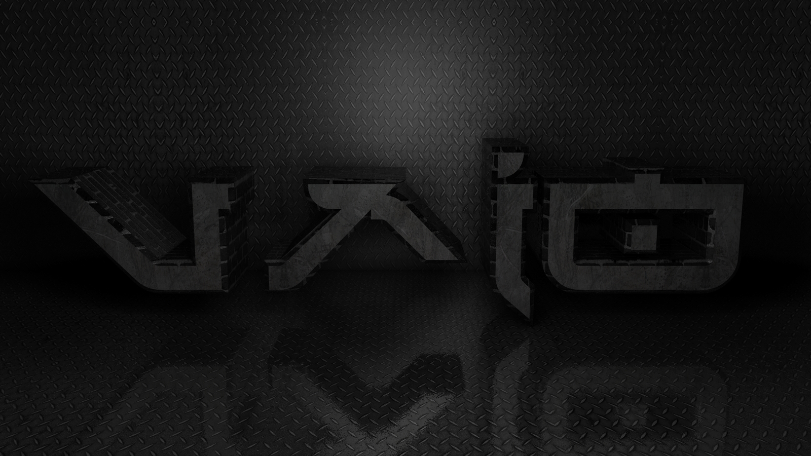 vaio black wallpaper hd