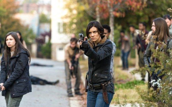 TV Show The Walking Dead Enid Katelyn Nacon Lauren Cohan Maggie Greene Tom Payne HD Wallpaper | Background Image