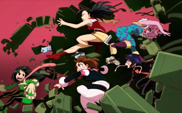 Anime My Hero Academia Ochaco Uraraka Tsuyu Asui Momo Yaoyorozu Tooru Hagakure Mina Ashido Kyōka Jirō HD Wallpaper | Background Image