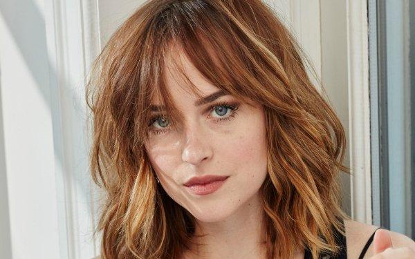 Celebrity Dakota Johnson Actresses United States Actress American Brunette Blue Eyes Face HD Wallpaper | Background Image