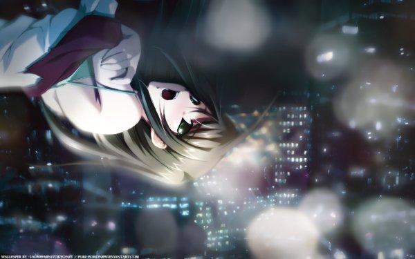 Anime Original Fille Falling Ville Fond d'écran HD | Arrière-Plan